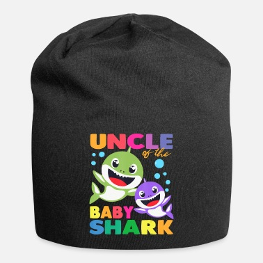 Christmas Uncle Of The Baby Shark Birthday Uncle Shark Shirt - Beanie