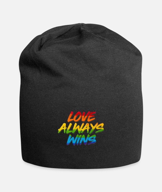 Marriage Equality Caps & Hats - LGBT Love Wins - Beanie black