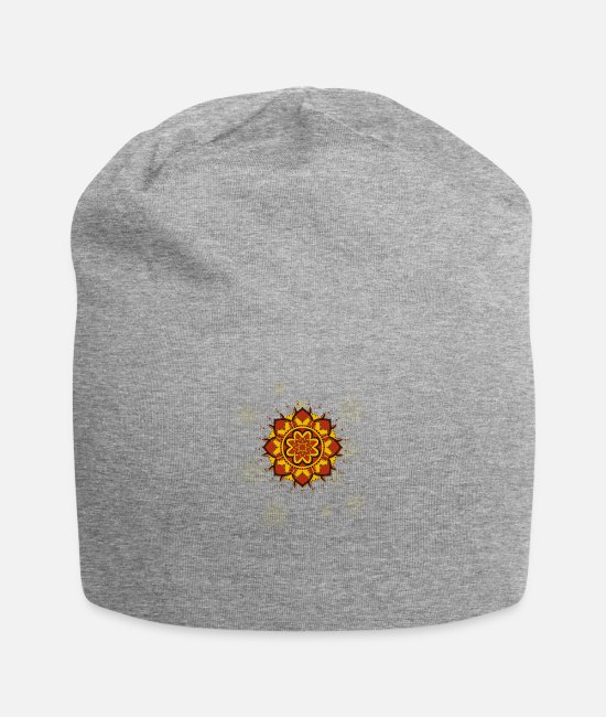 Yogi Caps & Hats - Elephant Meditation OM Symbol. Yoga Mantra Namaste - Beanie heather gray