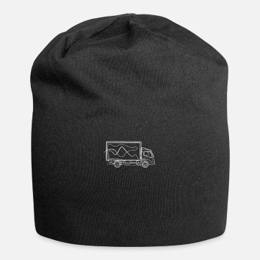 Line Drawing Truck - One Line Drawing - Beanie