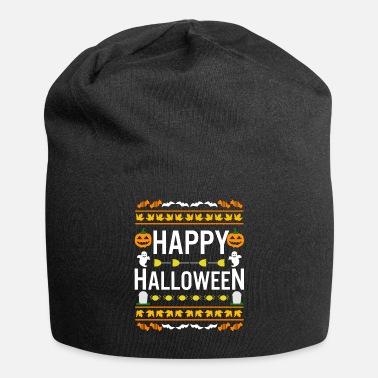 Falling Funny Ugly Sweater Happy Halloween Costume - Beanie