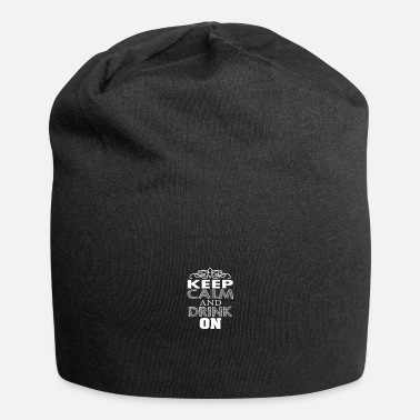 Love keep clam and drink on - Beanie
