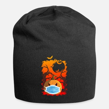 Halloween Pumpkin With Mask Gift - Beanie