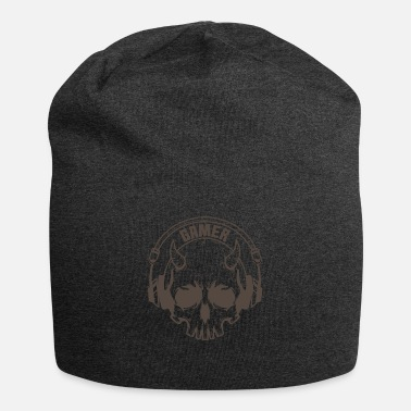 Mouse Gamer Skull with horns and headset - Beanie