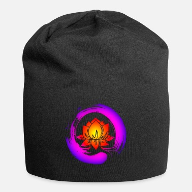 Enso Zen Circle Lotus Flower Symbol Buddhism Yoga - Beanie