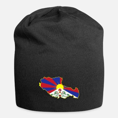 Tibet Tibet map flag - Beanie