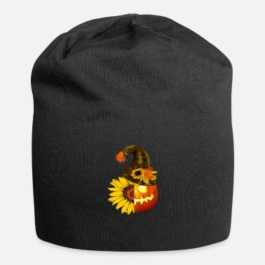Spooky Hippie sunflower halloween pumpkin - Beanie