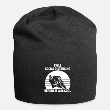 Presents I was social distancing motorcycle bike lifestyle - Beanie