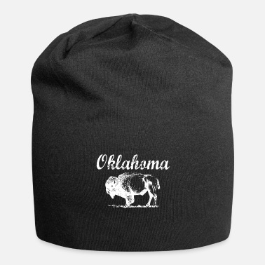 Native American Buffalo Oklahoma Buffalo Tribal Native American Country Ok - Beanie