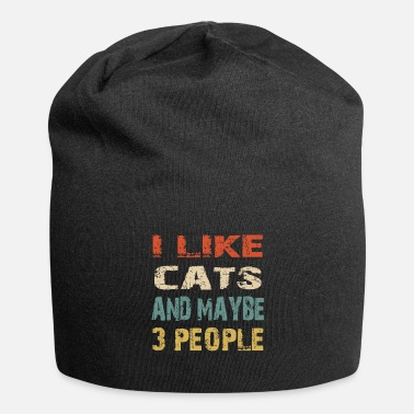 Cats I like Cats and Maybe 3 people - Beanie