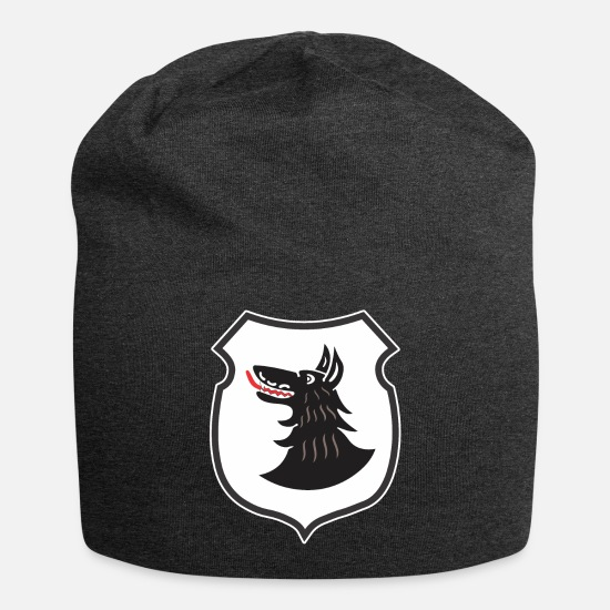 World Caps - III. Gruppe Jagdgeschwader 77 - Black Wolf - Beanie charcoal gray