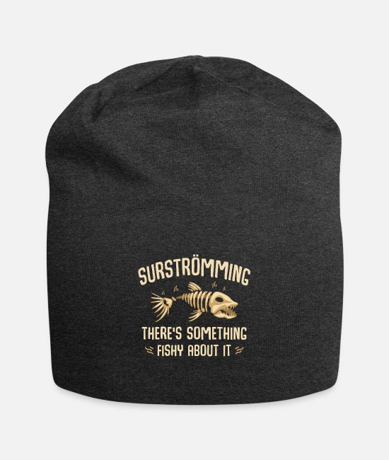 Sweden Caps & Hats - Surströmming - there is something fishy about it - Beanie charcoal gray