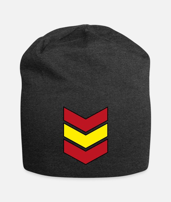 Ibiza Caps & Hats - Spanish Flag coat of arms Spain gift - Beanie charcoal gray