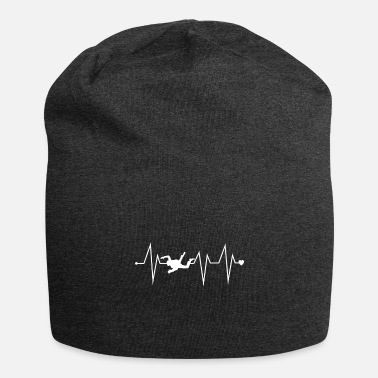 Bowling Funny Skydiving Skydiver Heartbeat Heart Pulse Rat - Beanie