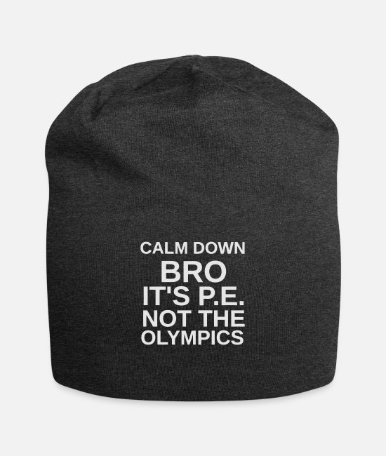 Calm Caps & Hats - Calm down - Beanie charcoal gray