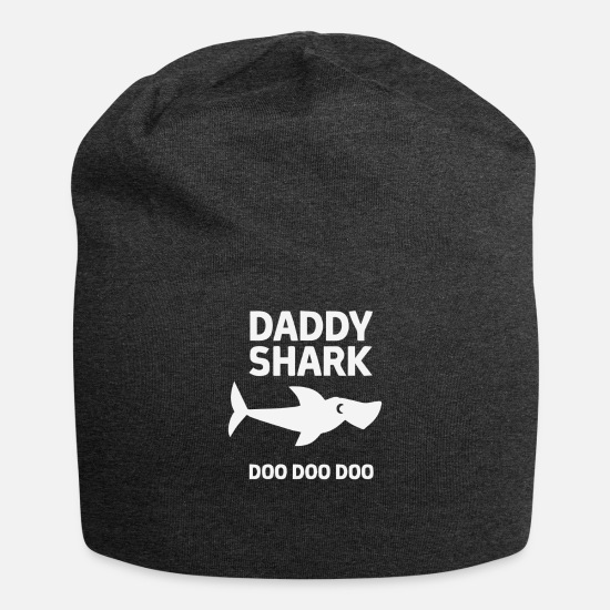 Shark Caps - Daddy Shark - Beanie charcoal gray