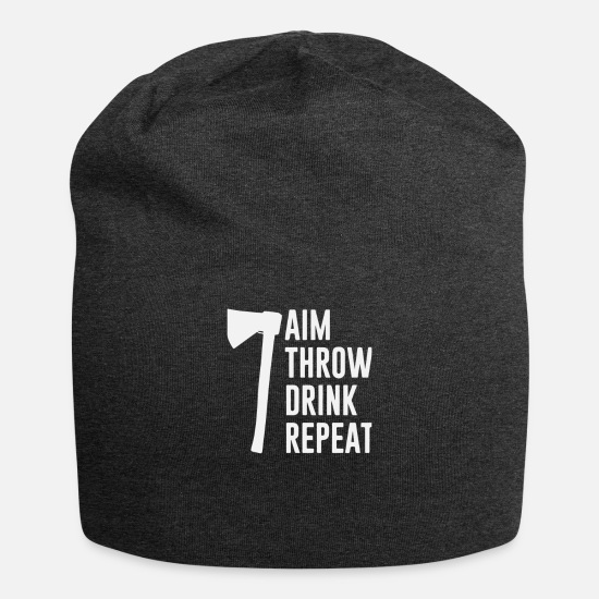 Movie Caps - Aim Throw Drink Repeat - Beanie charcoal gray