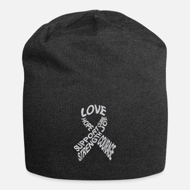 Brain Brain Cancer Awareness Fight Cancer Ribbon T Shirt - Beanie