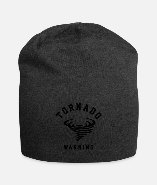 Weather Caps & Hats - tornado warning - Beanie charcoal gray