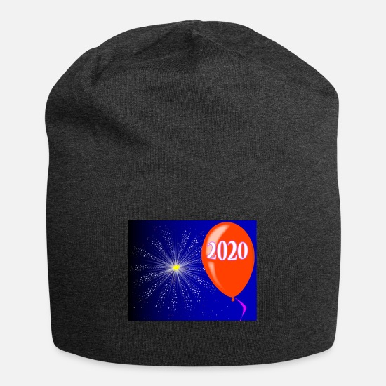 New World Order Caps - Happy New Year 2020 - Beanie charcoal gray