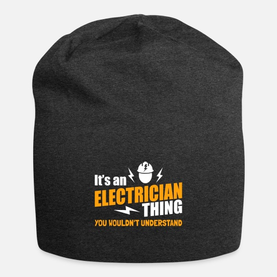 Electronics Caps - It's electrician thing - high voltage electricity - Beanie charcoal gray
