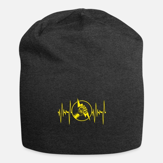 Electrician Caps - Electrician Electrical Engineer Electricity Volt - Beanie charcoal gray
