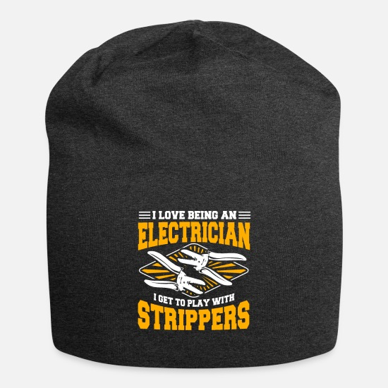Electrical Engineering Caps - Electrician Electrical Engineer Electricity Volt - Beanie charcoal gray