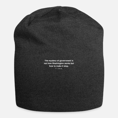 Government The mystery of government is not how Washington wo - Beanie