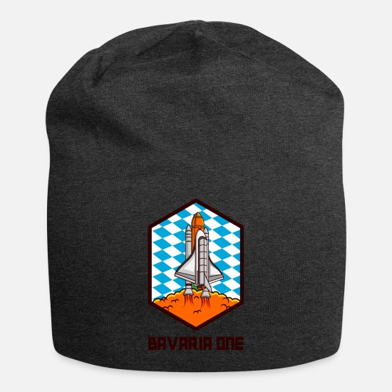 Space Caps - BAVARIA ONE Bavarian Space Ship Gift For Bavarian - Beanie charcoal gray