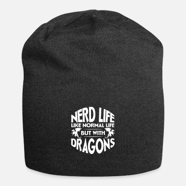 Dice Nerd Life Like Normal Life but with Dragons, - Beanie