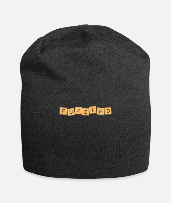 Heart Caps & Hats - Puzzle - Beanie charcoal gray