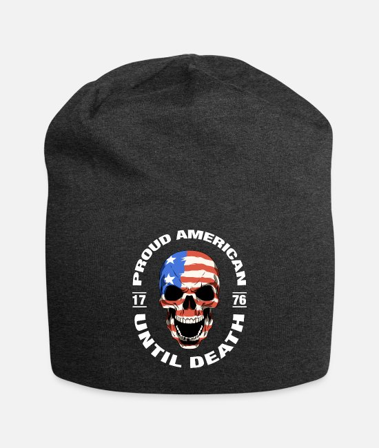 Proud Caps & Hats - Proud American Till Death Skull - Beanie charcoal gray