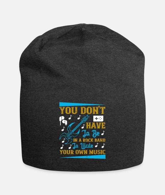 Headphones Caps & Hats - Music - Write Your Own Music - Beanie charcoal gray