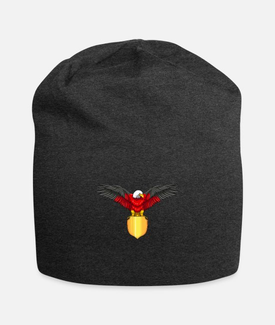 German Eagle Caps & Hats - German Eagle - Germany Coat Of Arms - Beanie charcoal gray
