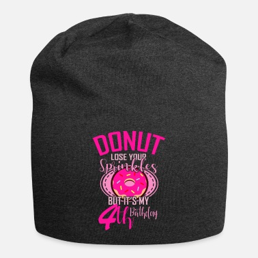 Bday 4th Birthday Girl DONUT Gift Birthday Party - Beanie