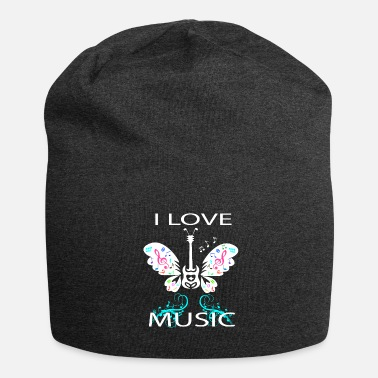 Butterfly Guitar Music Notes Love - Beanie