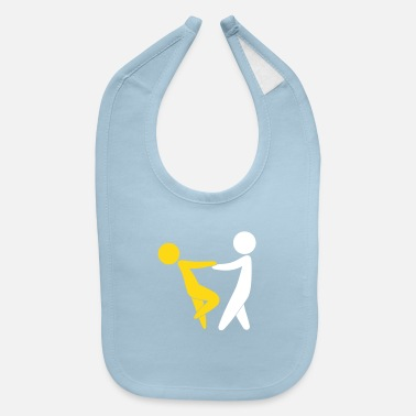 Valentine's Day Couple Dancing On Valentine's Day - Baby Bib