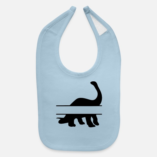 Dinosaurs Baby Clothing - dino - Baby Bib light blue
