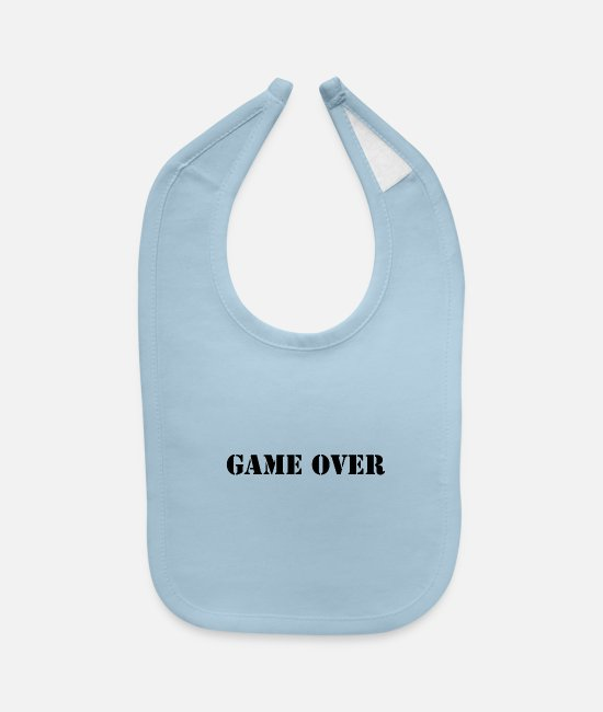 Overland Park Baby Bibs - Game Over - Baby Bib light blue