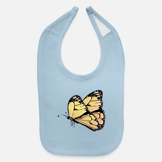 Wildlife Baby Clothing - butterfly-insect-wildlife - Baby Bib light blue
