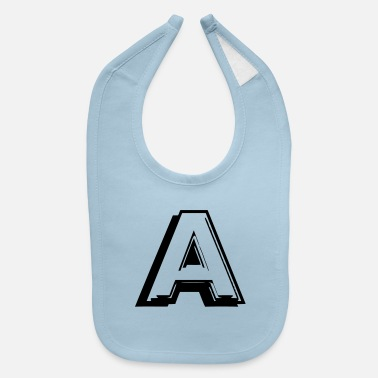 Lettering a letter - Baby Bib