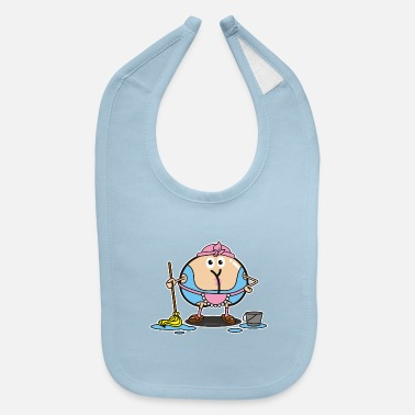 Cleaning Lady Assmex cleaning lady - Baby Bib