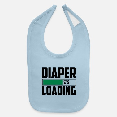 Funny diaper loading funny quote - Baby Bib