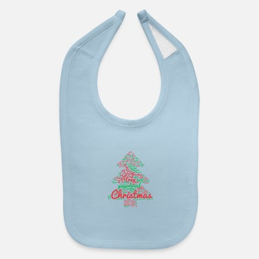 Christmas Tree Word Cloud - Baby Bib