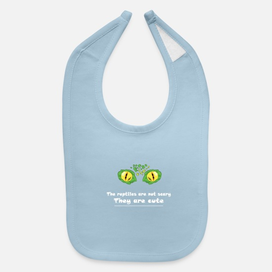 Reptile Baby Clothing - Eye Reptile! The reptile are not scary - Baby Bib light blue