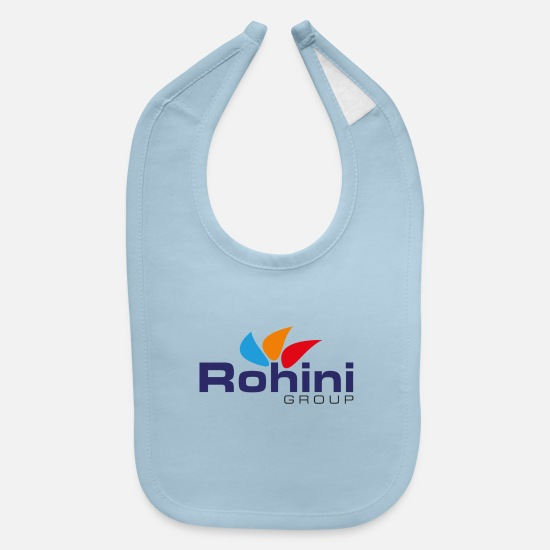 College Baby Clothing - Rohini College - Rohini Group - Baby Bib light blue