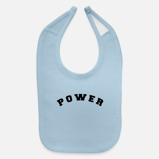 Power Symbol Baby Clothing - power - Baby Bib light blue