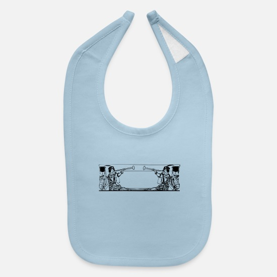 Pet Baby Clothing - horse217 - Baby Bib light blue