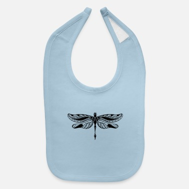 Shape dragonfly insect wildlife vector image tatoo - Baby Bib