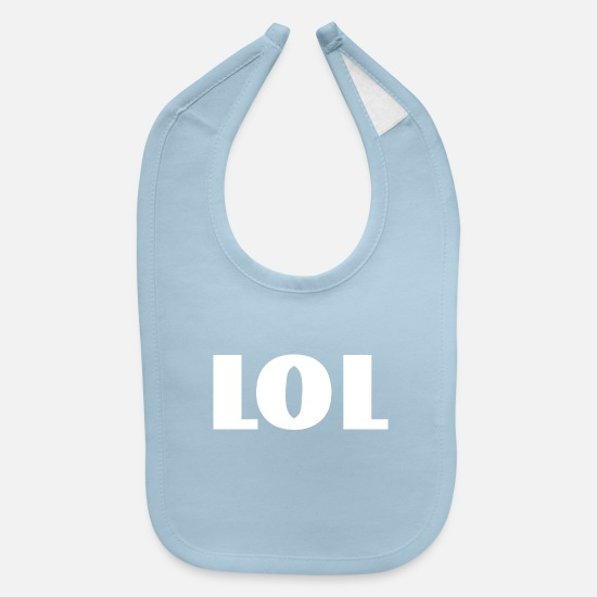 Lol Baby Clothing - lol - Baby Bib light blue